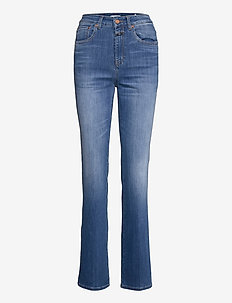 leaf - boot cut jeans - mid blue