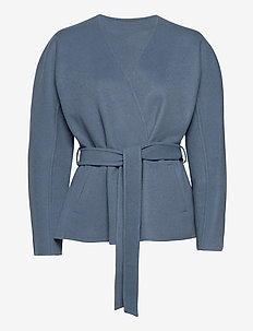 amelie - wool jackets - commodore blue
