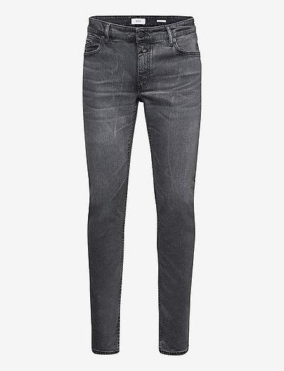 mens pant - slim jeans - dark grey