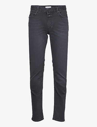 mens pant - slim jeans - black/black