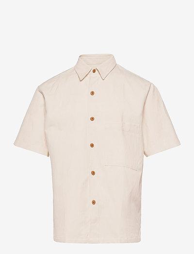 mens shirt - oxford shirts - ecru