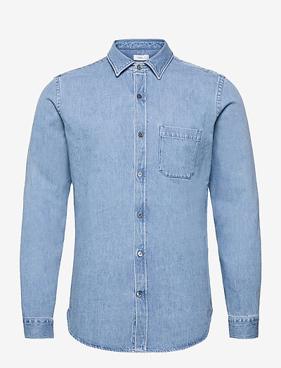 mens shirt - oxford shirts - light blue