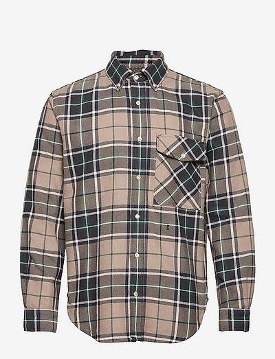 mens shirt - linneskjortor - fir green