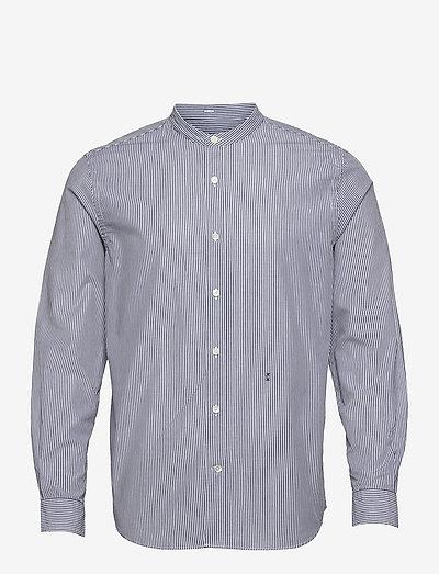 mens shirt - linneskjortor - blue slate