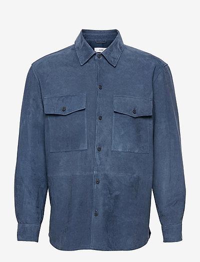 mens shirt - kleidung - blue slate