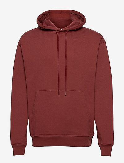 mens t & sweat-shirt - kapuzenpullover - red plum