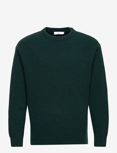 mens knit - rundhals - sacramento green
