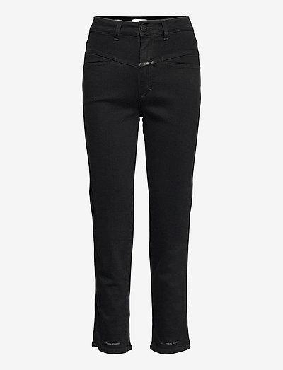 womens pant - raka jeans - black