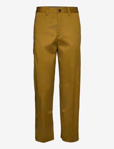 womens pant - raka byxor - golden brown