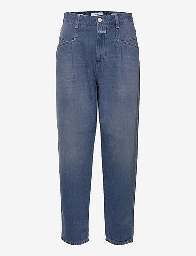 womens pant - vida jeans - blue slate