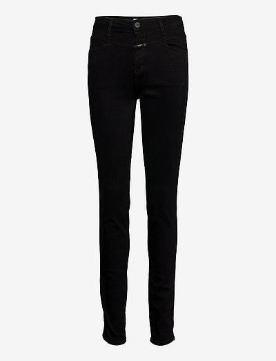 womens pant - skinny jeans - black