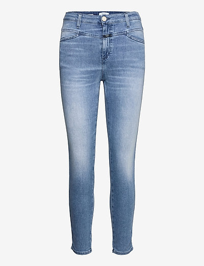 womens pant - skinny jeans - mid blue