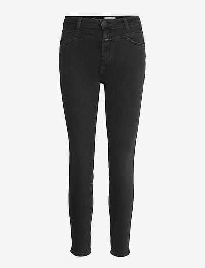 womens pant - skinny jeans - black/black