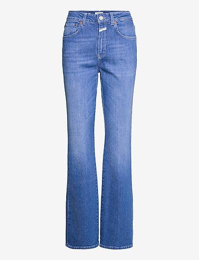 womens pant - schlaghosen - mid blue