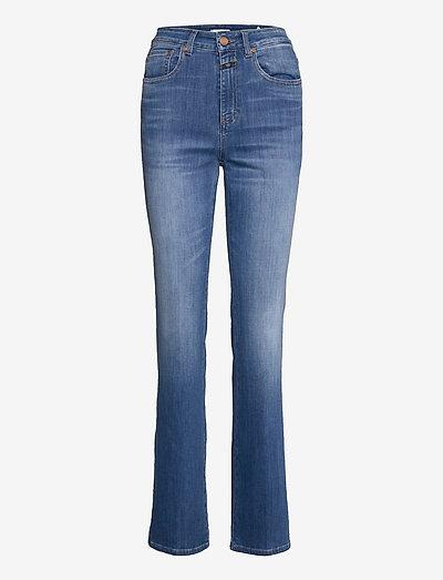 leaf - boot cut jeans - mid blue
