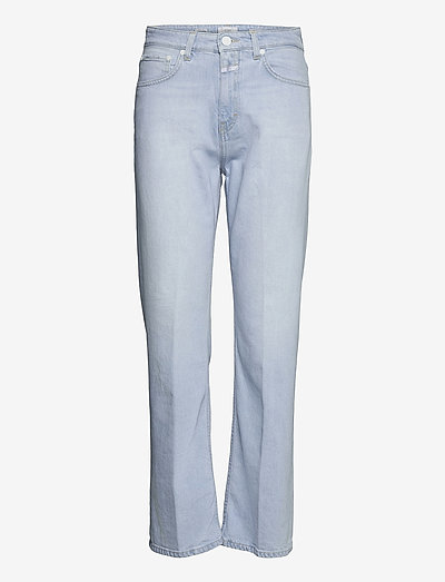 womens pant - straight regular - light blue