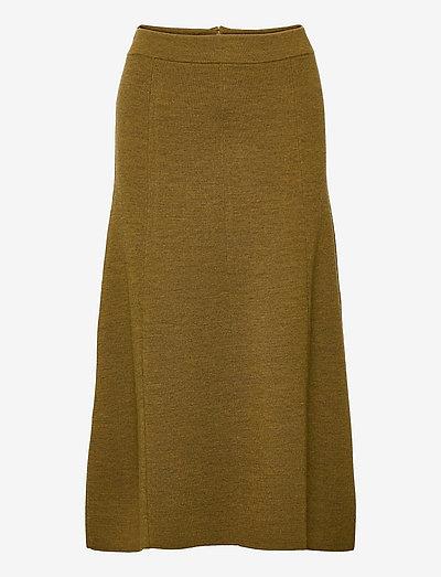 womens skirt - midi kjolar - golden brown