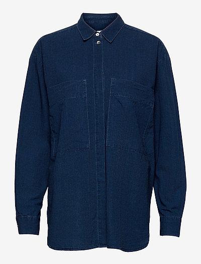 womens blouse - jeanshemden - mid blue