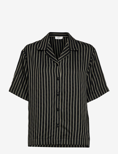womens blouse - kortärmade skjortor - black