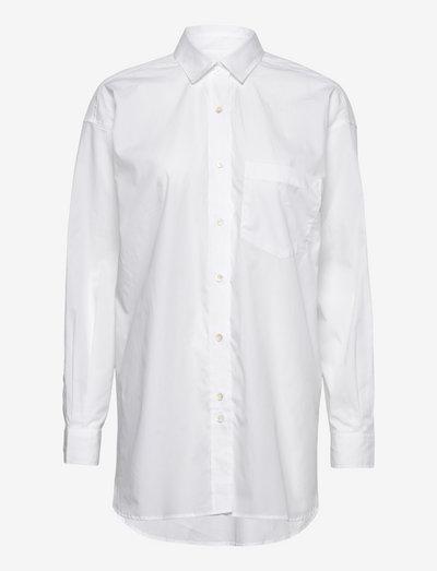 womens blouse - jeanshemden - white