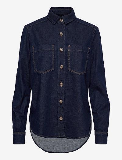 womens blouse - jeanshemden - dark blue