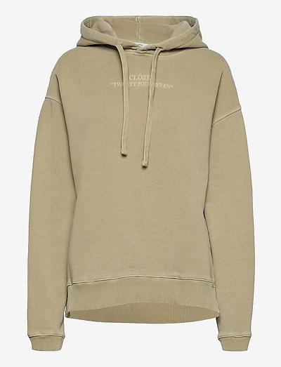 womens top - sweatshirts en hoodies - green bark