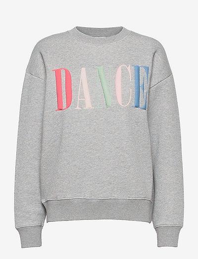 womens top - sweatshirts & hoodies - grey heather melange