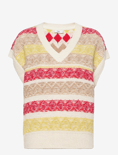 women´s knit - gestrickte westen - ivory