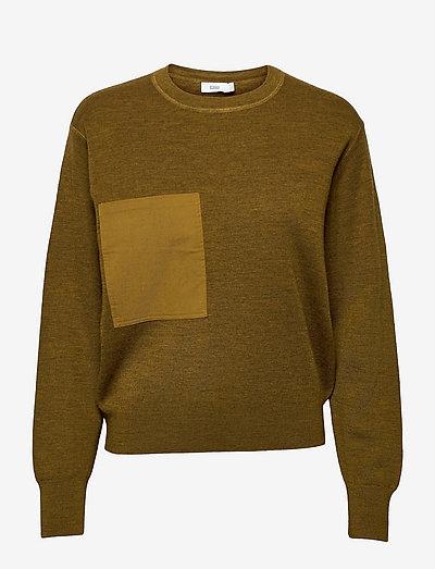 womens knits - gensere - golden brown