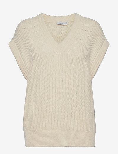 womens knits - gebreide vesten - vanilla sherbet