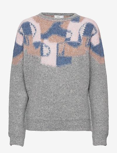 womens knits - gensere - grey heather melange