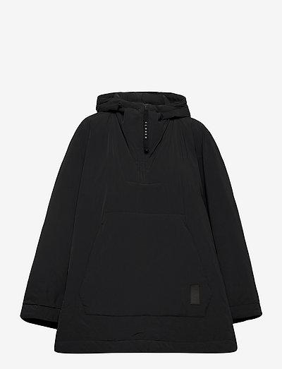 womens jacket - anoraks - black