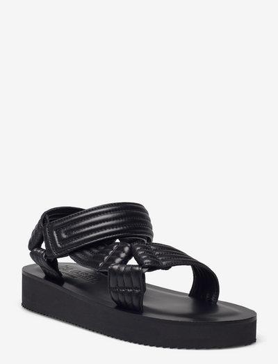 womens shoes - platta sandaler - black