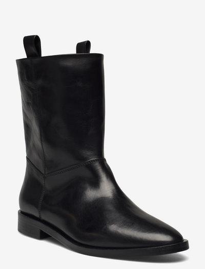 womens shoes - flache stiefeletten - black