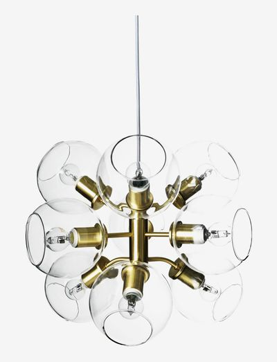 TAGE 50 PENDANT - pendler - brass, clear glas