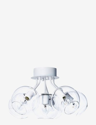 TAGE 50 CEILING - loftslamper - white, clear glas