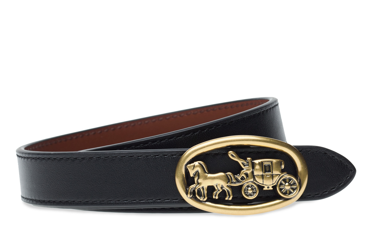 Coach 20MM Horse and Carriage Medallion Reversible Belt - B4/BLACK 1941 SADDLE