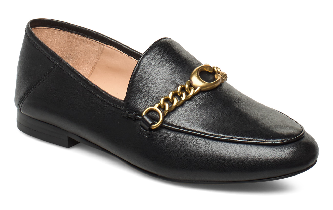 Coach Helena C Chain Loafer- Leather - BLACK