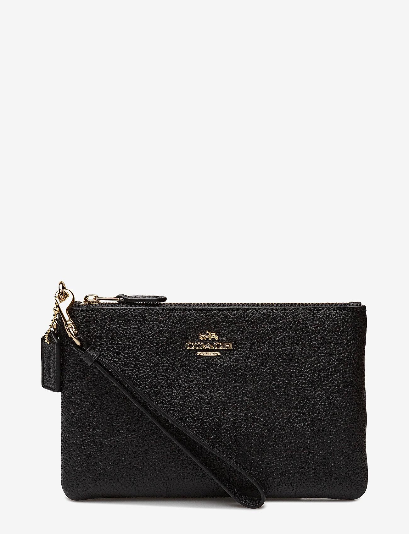 Coach - Polished Pebble Small Wristlet - clutches - li/black - 1