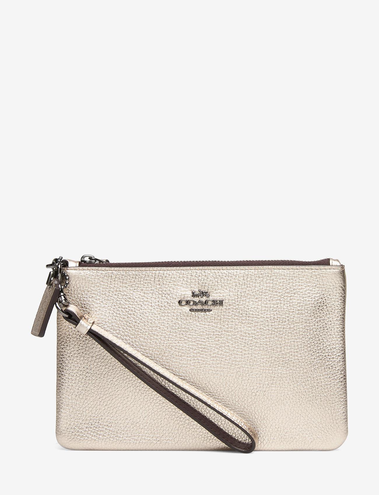 Coach - Metallic Small Wristlet - kirjekuorilaukut - gm/platinum - 0