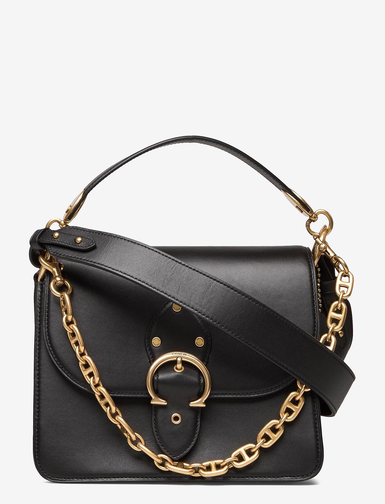 Coach - BEAT SHOULDER BAG Leather Womens Bags - väskor - black - 0