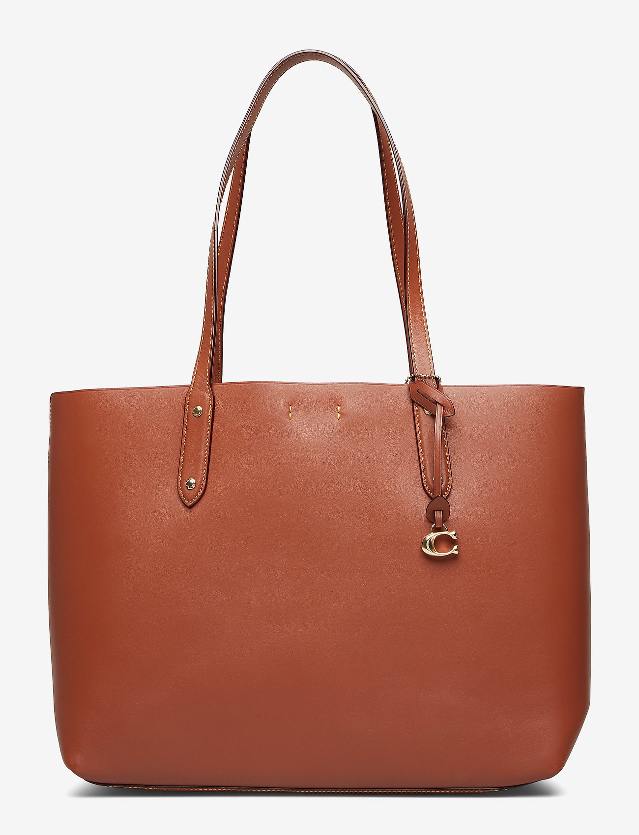 Coach - Refined Calf Leather Central Tote - fashion shoppers - gd/1941 saddle
