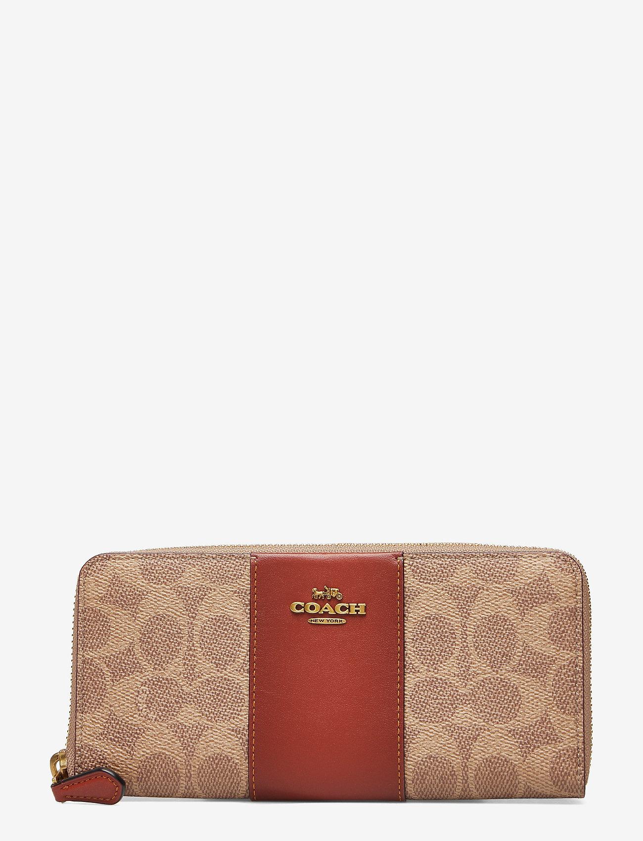 Coach - Womens Wallets Long Wallets - lompakot - b4/tan rust