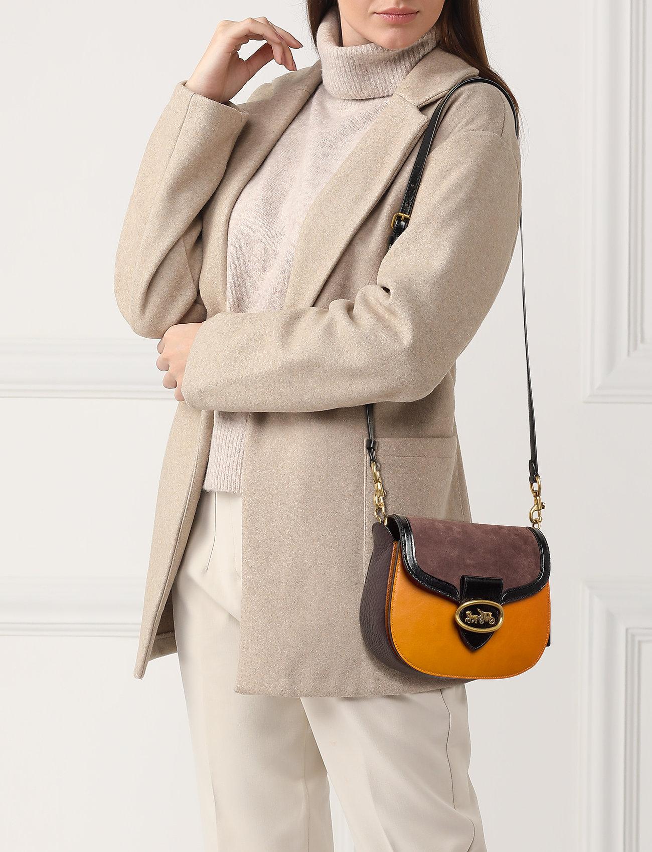 Coach Colorblock Mixed Leather Kat Saddle Bag 20 - B4PN6