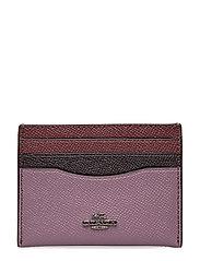 Colorblock Flat Card Case - SV/JASMINE MULTI PU SPLIT LEATHER