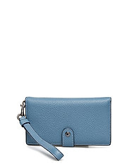 Polished Pebble Phone Wristlet - DK/CHAMBRAY LEATHER