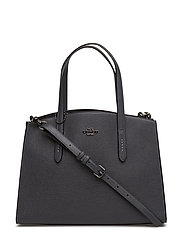 Polished Pebble Leather Charlie Carryall - DK/MIDNIGHT NAVY