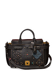 Patchwork Prairie Rivets Double Coach Swagger Carryall - BP/BLACK MULTI