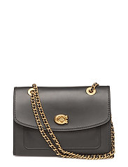 Refined Calf Leather Parker Shoulder Bag - OL/BLACK