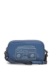 Coach X Keith Haring Glitter Motif Crossbody Clutch - BP/SKY BLUE